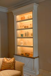 low profile adjustable display cabinets